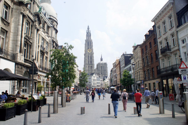 Historic citycenter in Antwerpes