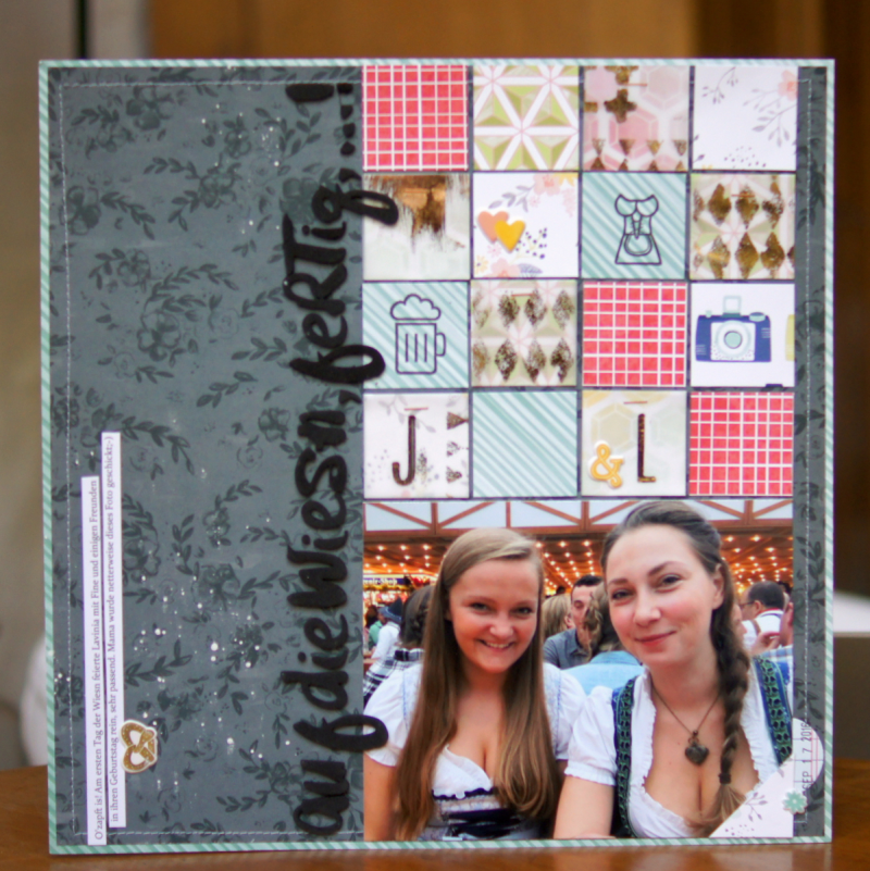 Minc foil on vellum scrapbooking layout