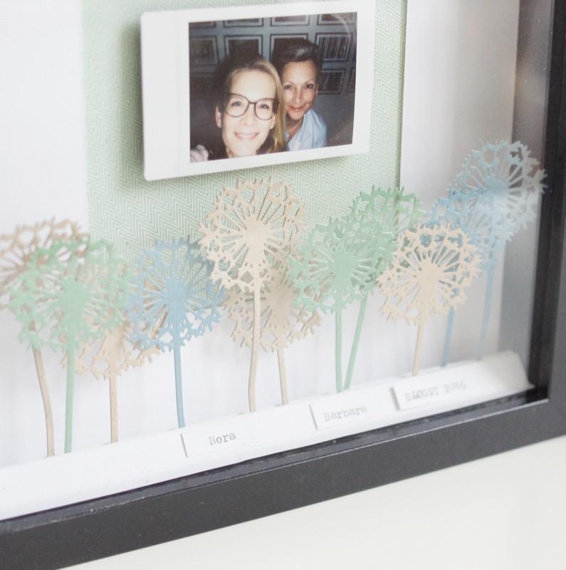 scrap-impulse: Home Deco Fotorahmen, mit IKEA Ribba und Sizzix Blumen