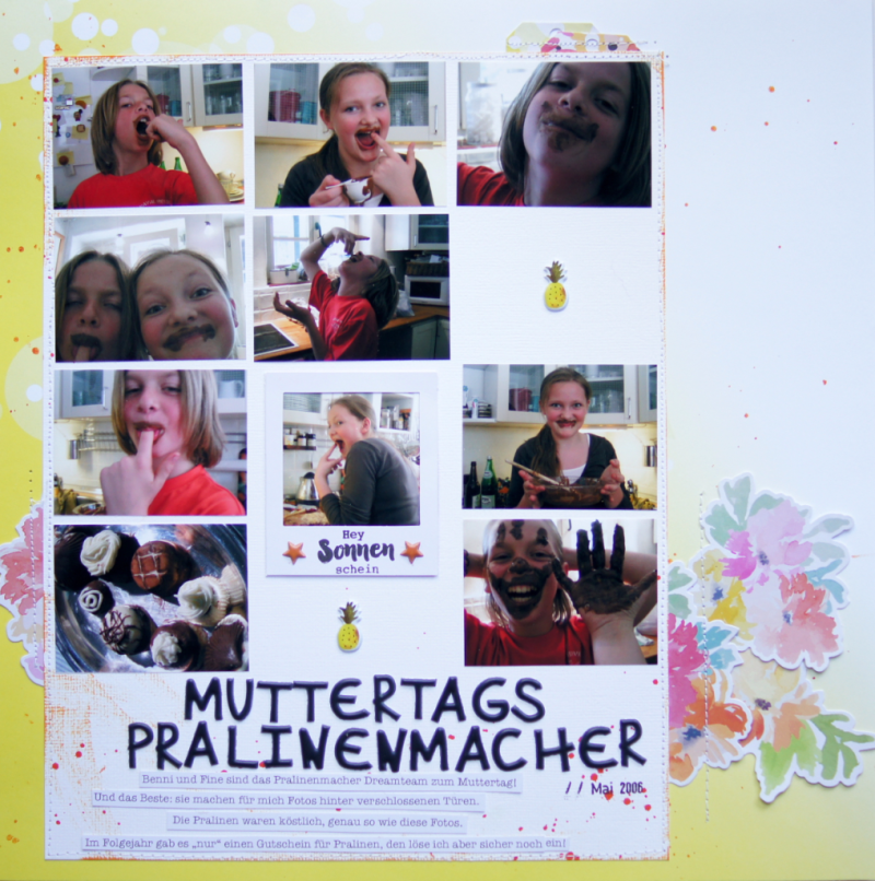 Scrapbooking Layout Muttertag Barbara Haane