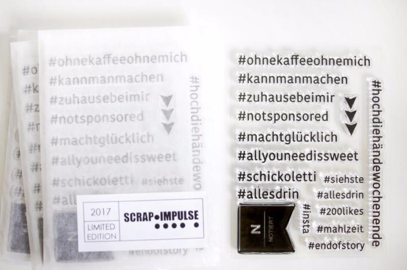 Hashtag Stempel Scrap-Impulse 2017