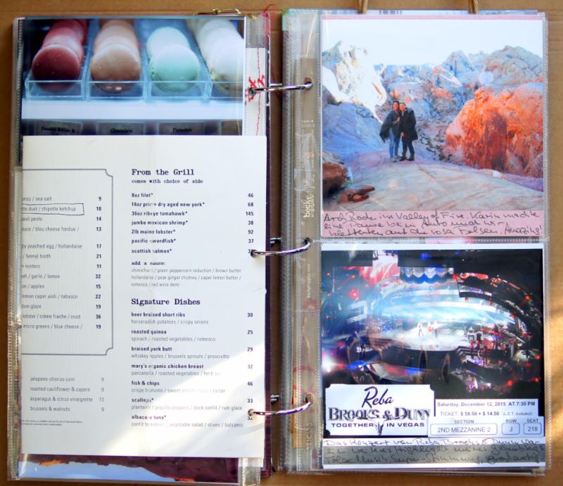 "Las Vegas im December Daily 2015 Dezembertagebuch 6x12"""