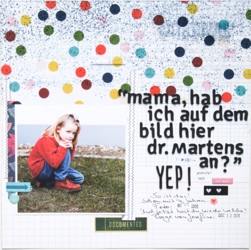 Barbara Haane Scrapbooking Layout Studio Calico Kit langer Titel