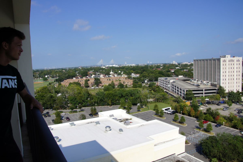 View from Penthouse Marriott Hotel Charleston