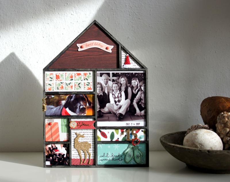 Weihnachtshaus Dekoration Crate Paper