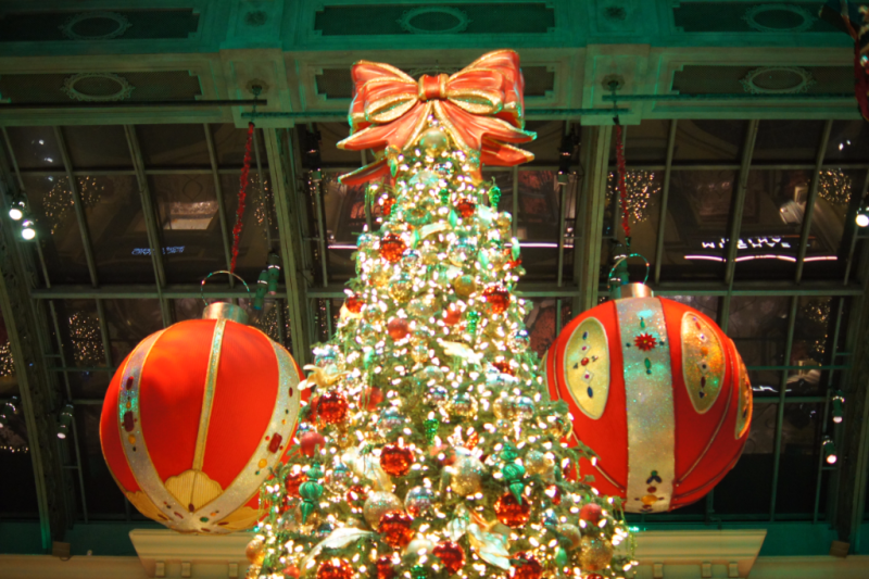 Christmas at the Bellagio Hotel in Las Vegas