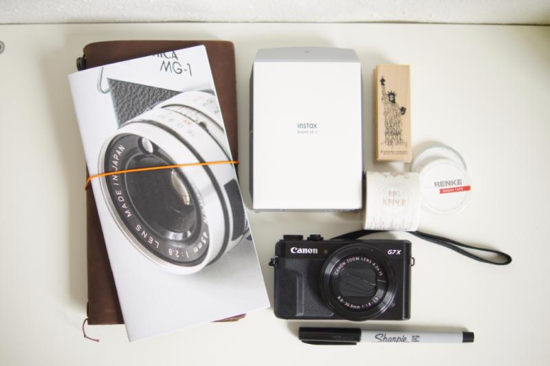 Travelers Notebook Danidori Instaxdrucker für die Reise