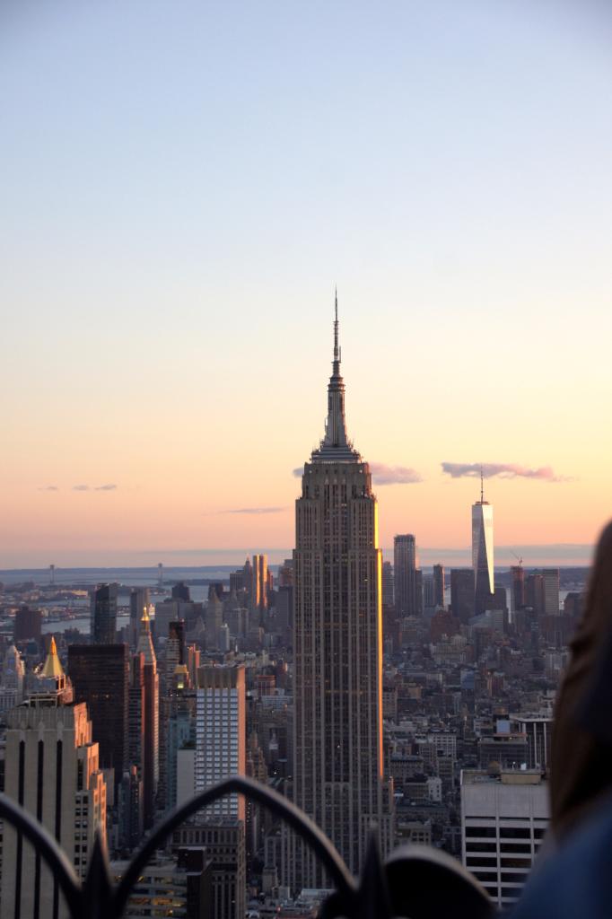 Empire State Building vom Rockefeller Center Top of the Rock Observatory