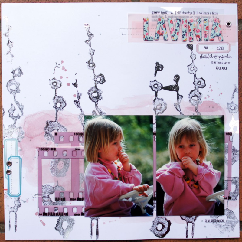 Scrapbooking Layout with Heidi Swapp Reactive Mist