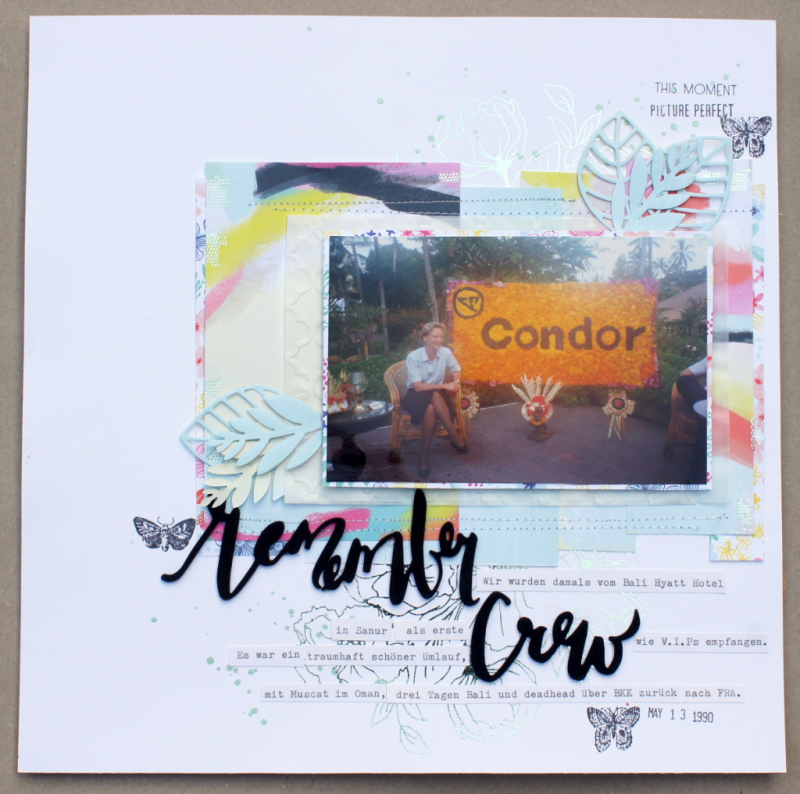 Scrapbooking layout heidi swapp minc screen printing