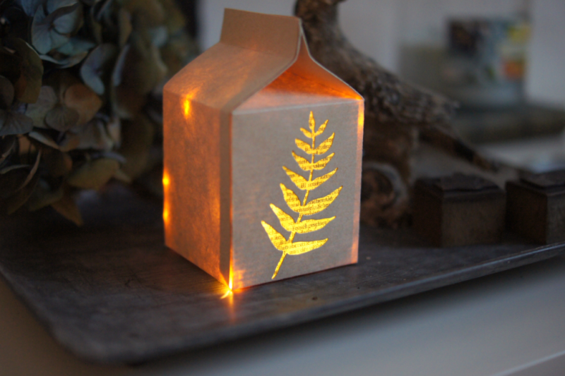 Sizzix Milk Carton DIY Light