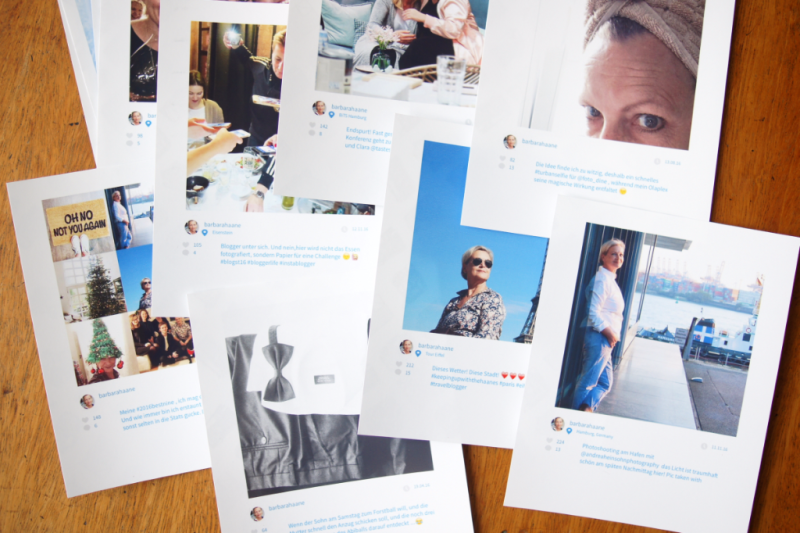 Instagram Fotos printed with HP Deskjet 3732