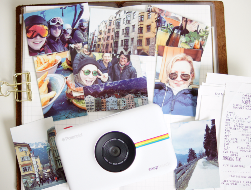 Polaroid Snap Touch Kamera Test Reisealbum