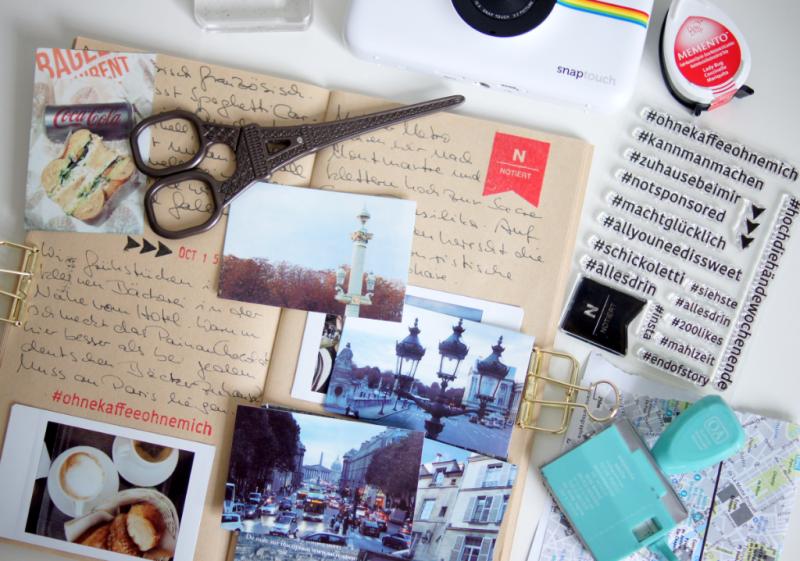 Paris Midori Travel Album Hashtag Stempel Scrap-Impulse 2017