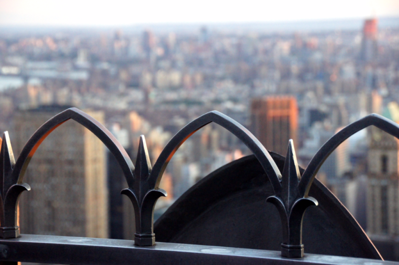 upper level Top of the Rock Observatory New York