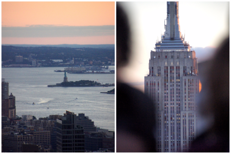 Blick vom Top of the Rock Observatory New York