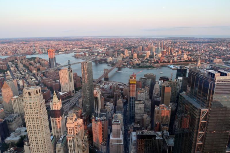 Brooklyn Bridge vom One World Observatory New York City