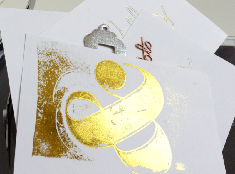 GoPress and Foil gold mit Embossing Folder