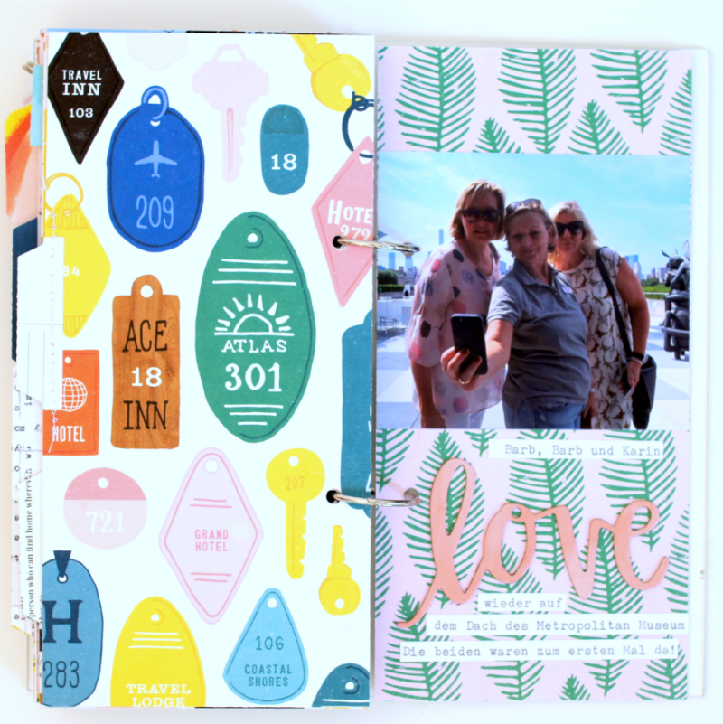 Acryl Scrapbooking Album im Travellers Notebook Format