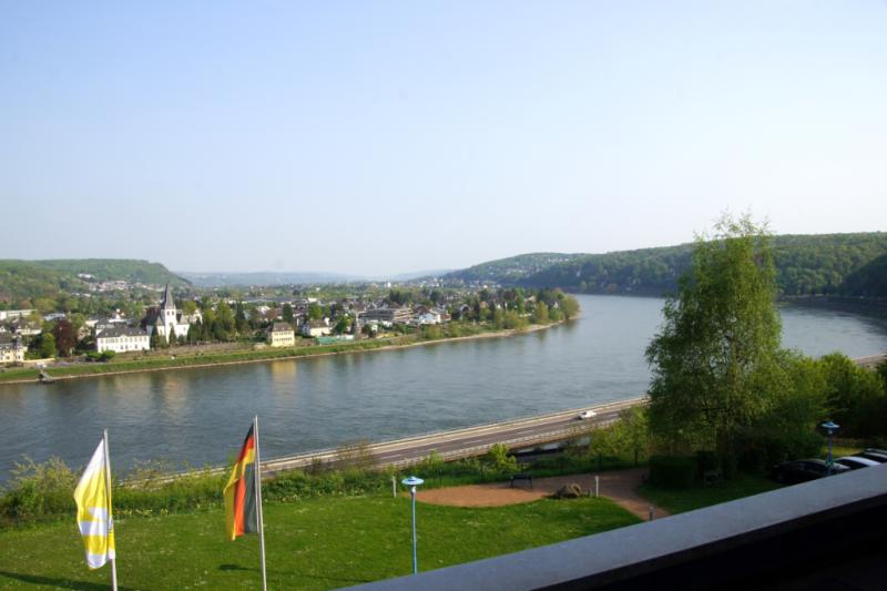 Blick aus Zimmer 213 Hotel Haus Oberwinter Remagen