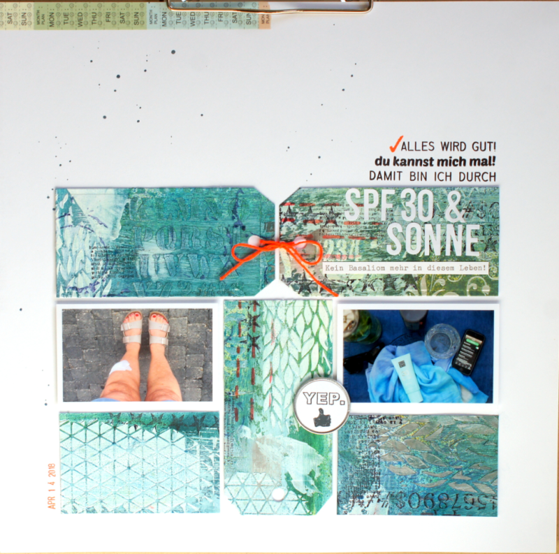 Barbara Haane Mixed Media Layout Crop Am Rhein 2018