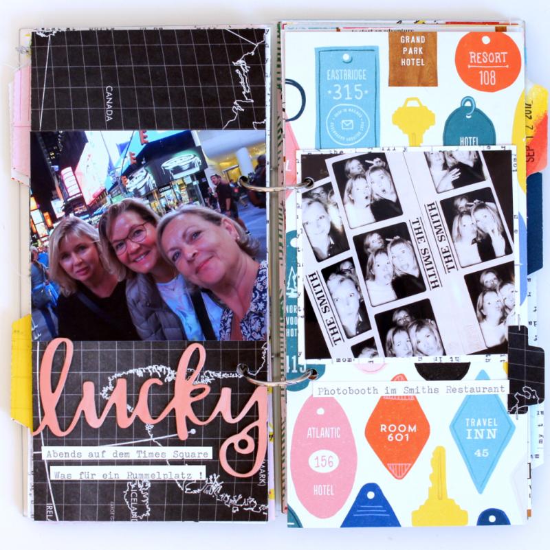 Acryl Scrapbooking Album im Travellers Notebook Format